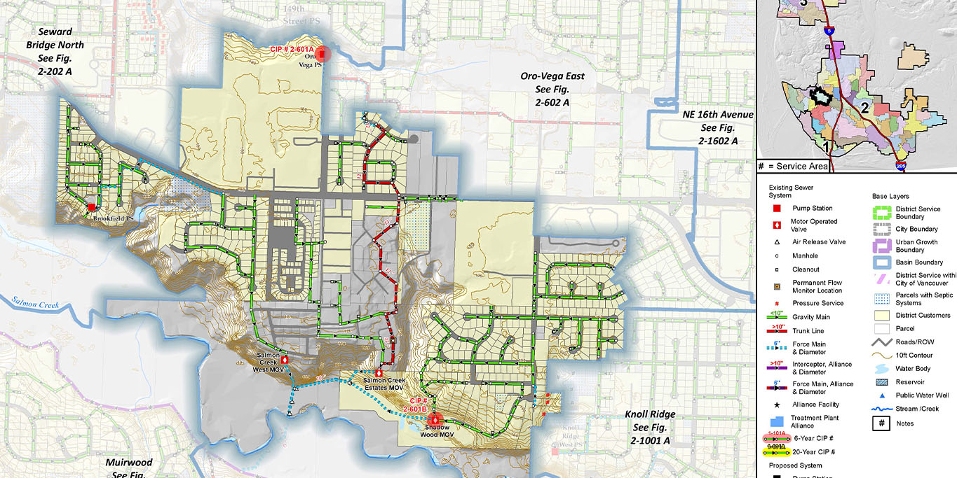 Sewer Model Development and Analysis, Clark Regional Wastewater District